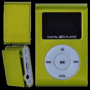 MP3 плеер c дисплеем и наушниками (зеленый)