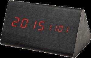 Настольные часы 'Wooden Clock' темный треугольный