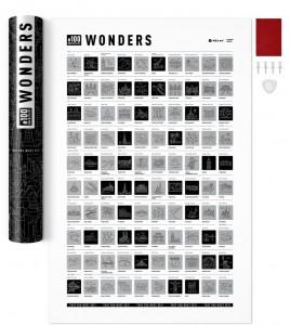 Подарок Скретч-постер #100 Wonders