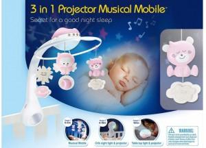 фото Мобиль музыкальный с проектором Infantino 3 в 1, розовый (004914I) #2