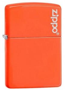 Зажигалка Zippo ' Reg Neon Orange Lighter logo' (28888ZL)