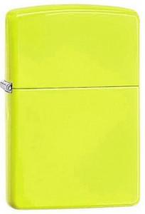 Зажигалка Zippo ' Reg Neon Yellow Lighter'(28887)