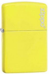Зажигалка Zippo ' Reg Neon Yellow Lighter logo' (28887ZL)
