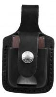 Кожаный чехол для зажигалок Zippo черный (LPTBK )