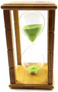 Подарок Часы песочные 'Time Is Money', бамбук (DN29765C)