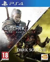 игра Dark Souls 3 + Ведьмак 3 PS4 -  русская версия