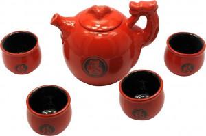Чайный сервиз Delizia Красный дракон из 5 предметов Красный (DN27933)