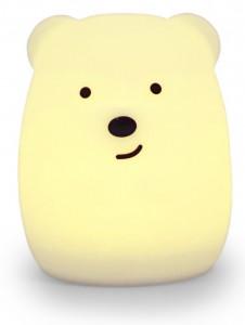 Силиконовый ночник детский Click 'Ночные зверята. Медвежонок', 11 см (CLK-G01201)
