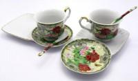 Чайный сервиз 'Пионы', фарфор (DN19223)