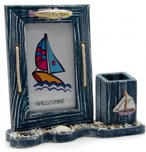 Подарок Фоторамка Kanishka 'Море', с подставкой для ручек (DN25279)