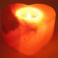 Подарок Подсвечник соляной 'Сердце' (DN25782)