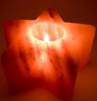 Подарок Подсвечник соляной 'Звезда' 0.75 кг (DN25782)