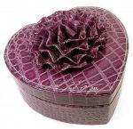 Подарок Шкатулка для украшений 'Сердечко' фиолетовая (DN25771D)