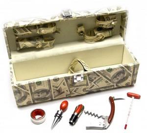 Подарок Винный набор из 5 предметов в футляре (DN26379)