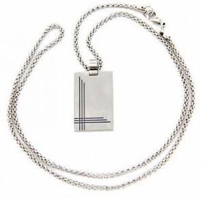 Подарок Мужской кулон Caseti серебристый CAC30013 (6)