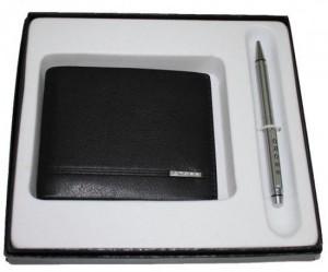 Подарок Подарочный набор Cross Classic Century Черный, портмоне и ручка (ACC436B-1)