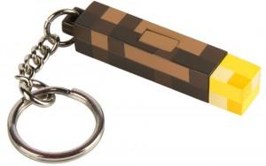 Подарок Брелок JINX Minecraft - 3D Light-Up Torch Keychain (JINX-9731)