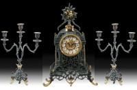 Подарок Подарочный набор Virtus Часы с двумя канделябрами на 3 свечи, бронза (5521-4048SET)