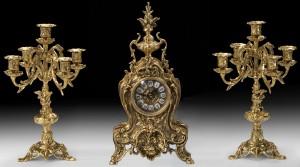 Подарок Подарочный набор Virtus Часы с двумя канделябрами на 5 свечей, бронза (5156-4221SET)