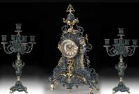 Подарок Подарочный набор Virtus Часы с двумя канделябрами на 5 свечей, бронза (5165-4031SET)