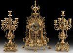 Подарок Подарочный набор Virtus Часы с двумя канделябрами на 5 свечeй, бронза (5632-4150SET)