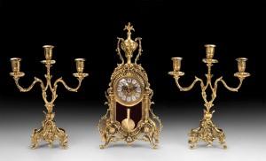 Подарок Подарочный набор Virtus Часы с маятником и два канделябра на 3 свечи (5084-4040SET)