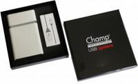 Подарок Портсигар+зажигалка Champ Cigarette Case + Usb Igniter - DL-8 Белый (40400317WH)
