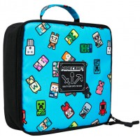 Подарок Ланчбокс JINX Minecraft Bobble Mobs Lunch Box, Blue (JINX-9527)