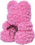 фото Мишка из роз c сердцем 60см UFT Bear Flowers UFT BS3 Pink #2