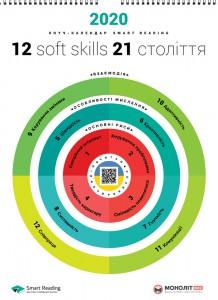 Розумний настінний календар на 2020 рік '12 soft skills 21 століття'