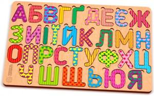 Дерев'яний пазл Зірка 'Абетка українська кольорова' (2000001193211)
