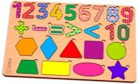 Дерев'яний пазл Зірка 'Цифри-фігури кольорові' (2000001193228)