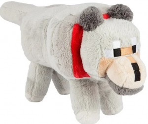 фигурка Фигурка JINX Minecraft - Wolf Plush, 15 Grey (JINX-5955)