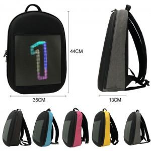 фото Рюкзак с LED дисплеем LED Bagpack, голубой #8