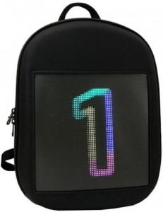 фото Рюкзак с LED дисплеем LED Bagpack, голубой #9