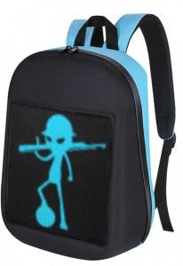 фото Рюкзак с LED дисплеем LED Bagpack, голубой #2