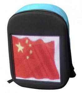 фото Рюкзак с LED дисплеем LED Bagpack, голубой #3