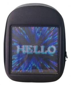 фото Рюкзак с LED дисплеем LED Bagpack, серый #2