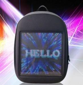 фото Рюкзак с LED дисплеем LED Bagpack, серый #3
