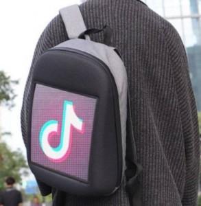 фото Рюкзак с LED дисплеем LED Bagpack, серый #9