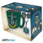 Подарок Подарочный набор для геймера ABYstyle Harry Potter -  Slytherin pack (чашка, брелок, знак Слизерин) (ABYPCK094)
