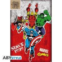 Подарок Постер ABYstyle Marvel 'Heroes 1939', 91.5x61 см (ABYDCO421)