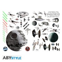Подарок Наклейки ABYstyle Star Wars 'Battleships' блистер 100х70 см (ABYDCO058_B)