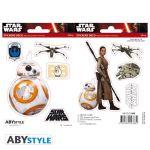 Подарок Наклейки ABYstyle Star Wars 'BB8/Rey' 16х11см, 2 листа (ABYDCO359)