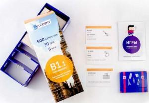 Настольная игра English Student Карточки для изучения английского языка English Student Intermediate B1.1 (русско-английские) (59122746)