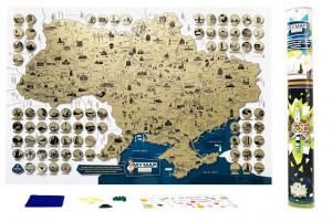 Подарок Скретч-карта України My Map Ukraine edition