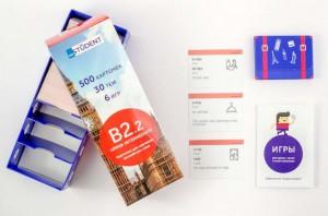 Настольная игра English Student Карточки для изучения английского языка English Student Upper-Intermediate B2.2 (русско-английские) (59122909)
