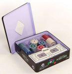 фото Настольная игра Johnshen Sports 'Покерный набор на 100 фишек с номиналом (жестяная коробка)' (IG-2033) #3