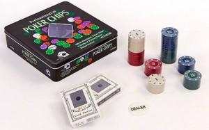 Настольная игра Johnshen Sports 'Покерный набор на 100 фишек с номиналом (жестяная коробка)' (IG-2033)