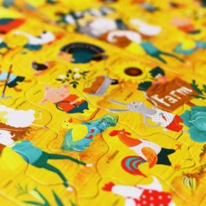 Настольная игра Пазл для детей English Student Ферма 30 шт (41315803)